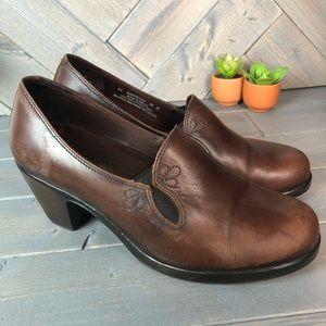 Dansko Brown heeled slip on Clog Size 11